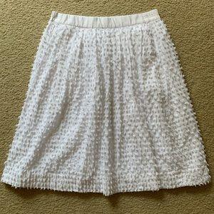 J. Crew white textured a-line skirt
